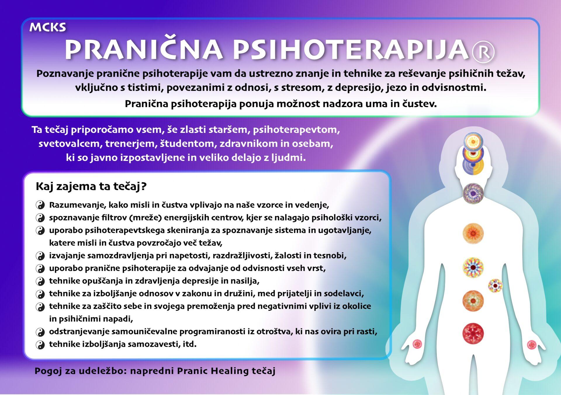 Razpis Pranic Healing tečajev